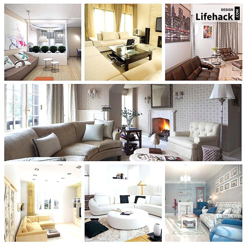 Дизайн большого размера комнаты