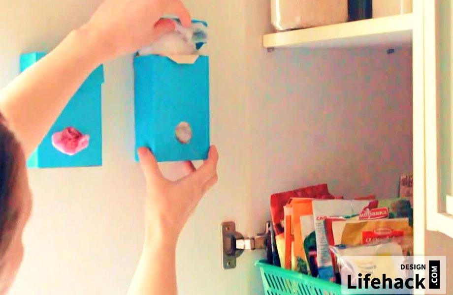 коробочка для пакетов своими руками