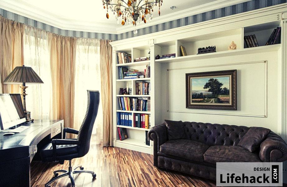 рабочий кабинет в квартире дизайн