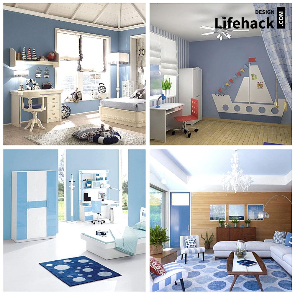 Морской интерьер детской комнаты