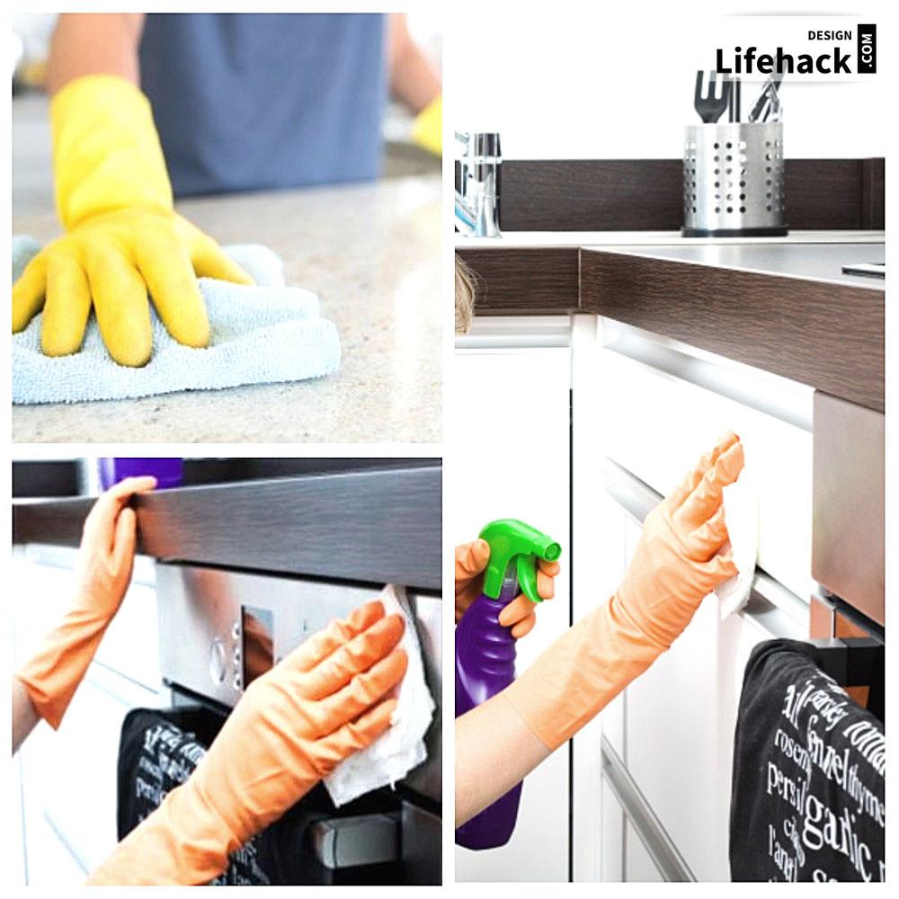 блеск поверхности в кухни помыть