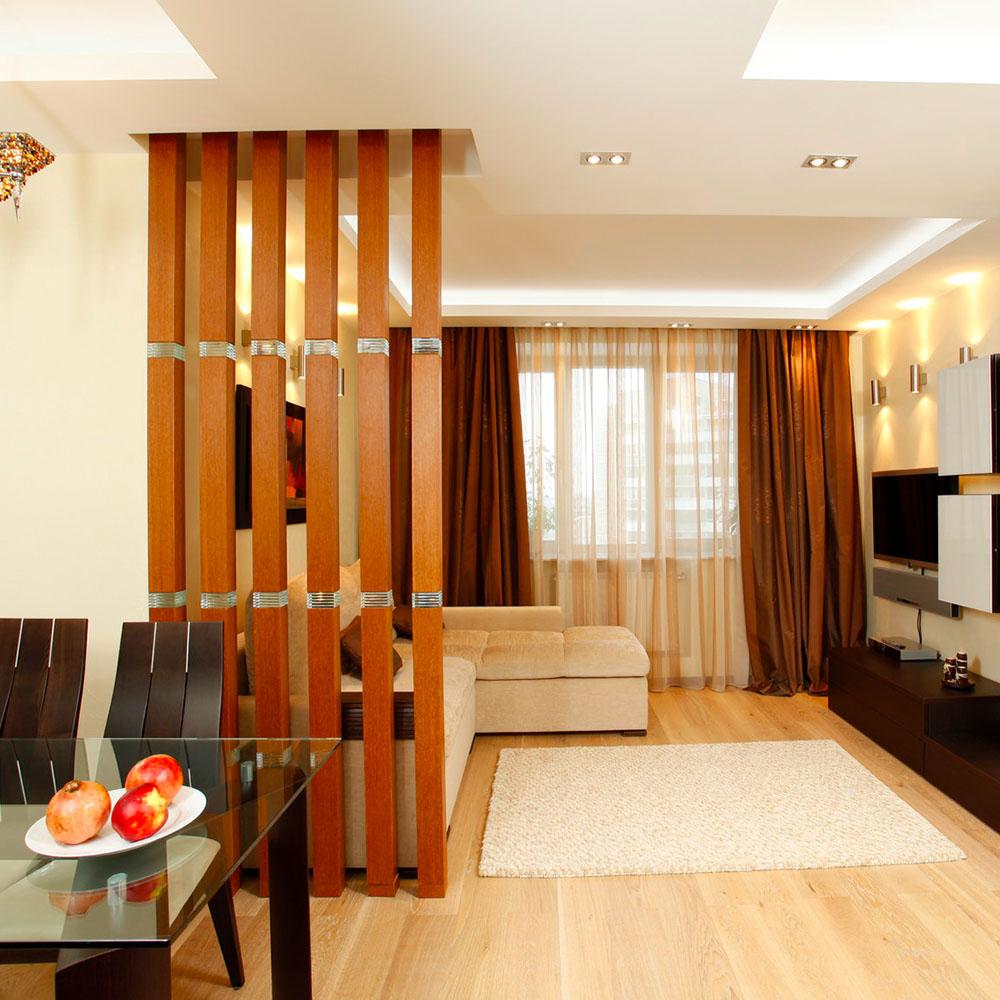 Идеи разделения комнаты на спальню и гостиную