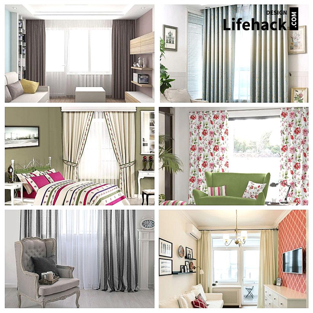 шторы в интерьере для маленьких комнат