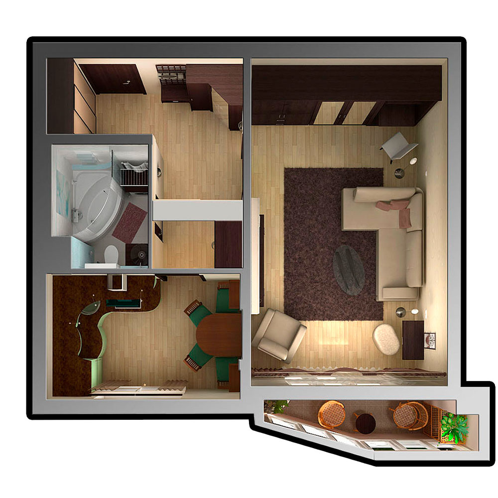 увеличить пространство в маленькой квартире