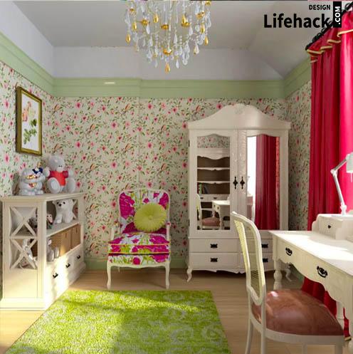 стиль прованс комнаты для девочки