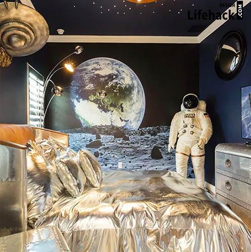 детская в стиле космонавта