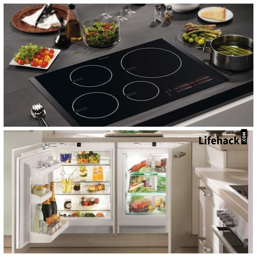 холодильник и плита в интерьере