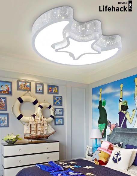 освещения в детскую в интерьере