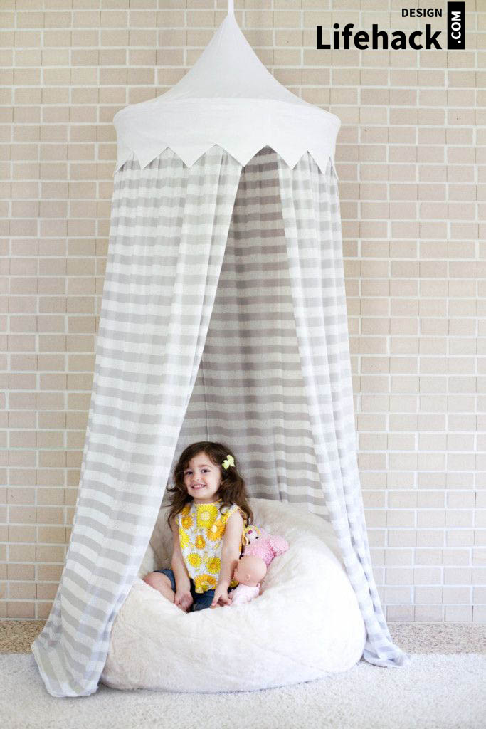 палатка в детскую в интерьере