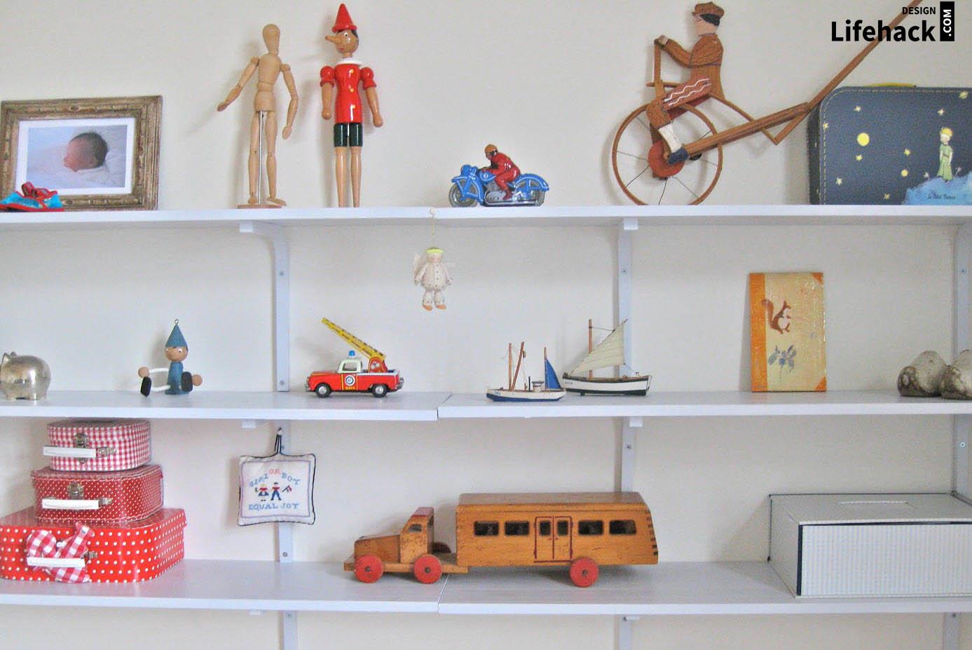 полки для игрушек в интерьере